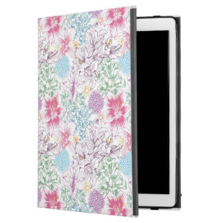 "Lovely pattern with colorful flowers iPad pro 12.9"" case"