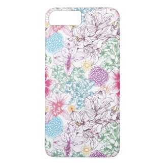 Lovely pattern with colorful flowers iPhone 8 plus/7 plus case