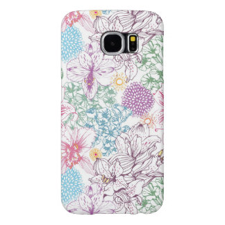 Lovely pattern with colorful flowers samsung galaxy s6 cases