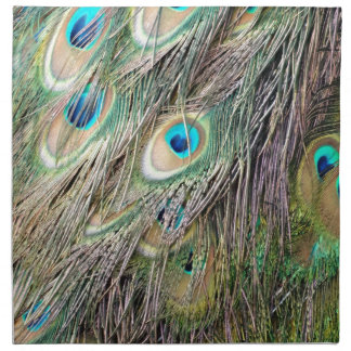Lovely Peacock Feather Eyes With New Growth Napkin