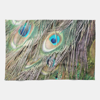 Lovely Peacock Feather Eyes With New Growth Tea Towel