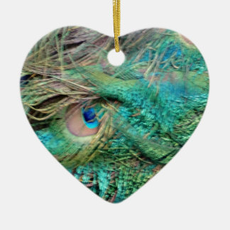 Lovely Peacock Feathers Beautiful Eyes Christmas Ornament