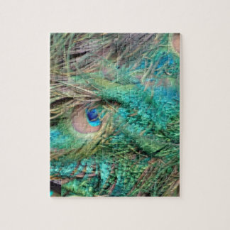 Lovely Peacock Feathers Beautiful Eyes Jigsaw Puzzle