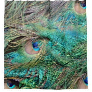 Lovely Peacock Feathers Beautiful Eyes Shower Curtain