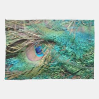 Lovely Peacock Feathers Beautiful Eyes Tea Towel