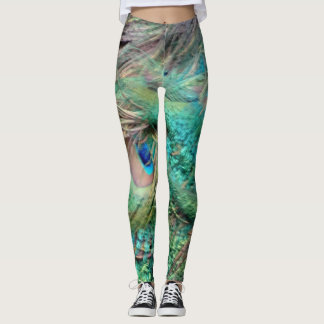 Lovely Peacock Feathers Beautiful Leggings