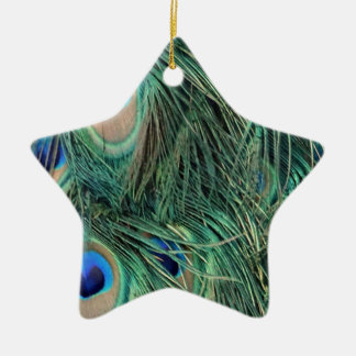 Lovely Peacock Feathers Christmas Ornament