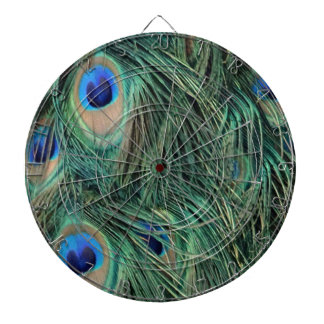 Lovely Peacock Feathers Dartboard