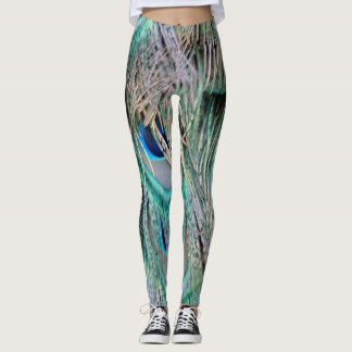 Lovely Peacock Feathers Leggings