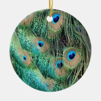 Lovely Peacock Feathers With New Grouch Christmas Ornament
