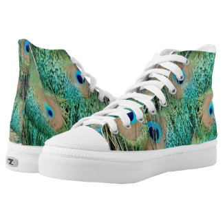 Lovely Peacock Feathers With New Grouch High Tops