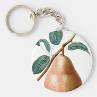LOVELY PEAR BASIC ROUND BUTTON KEY RING