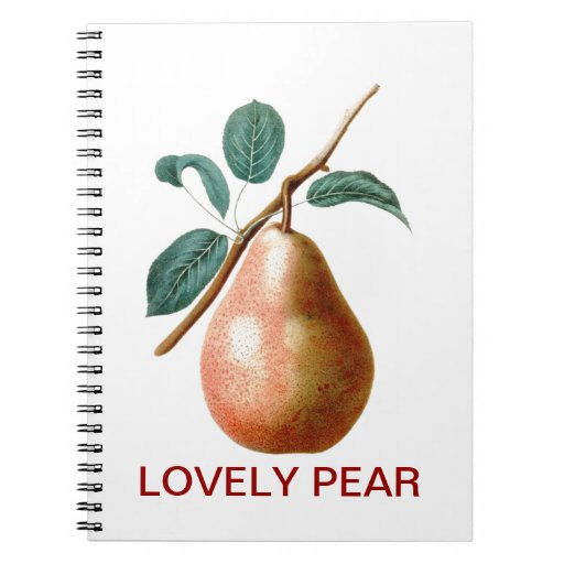 LOVELY PEAR SPIRAL NOTE BOOK
