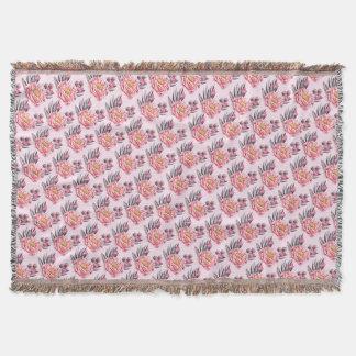 Lovely Peonies Summer Pattern Throw Blanket