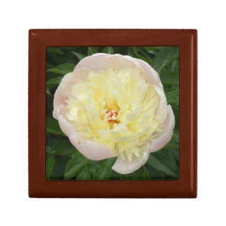 Lovely Peony Flower Small Square Gift Box