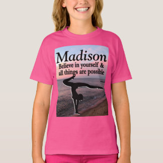 LOVELY PERSONALIZED GYMNASTICS GIRL T SHIRT