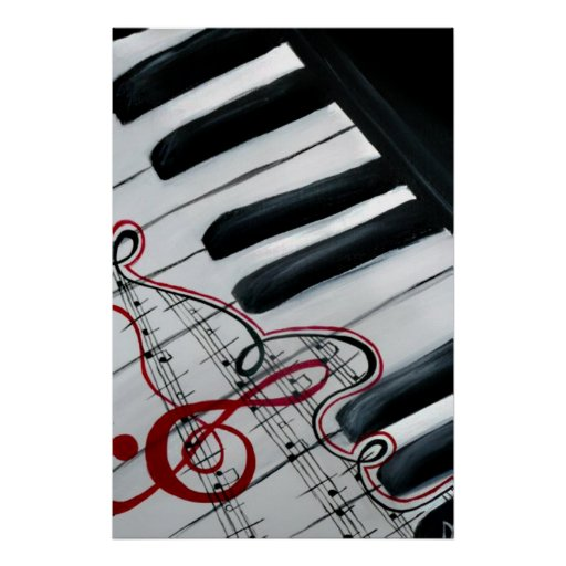 Lovely Piano Poster