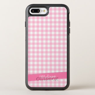 Lovely Pink Checkered Personalized | Phone Case