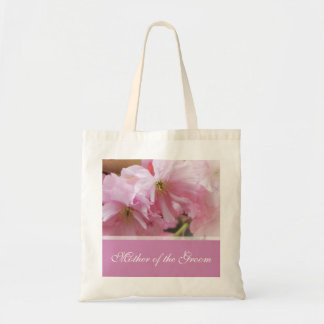 Lovely pink cherry blossom  spring wedding mother