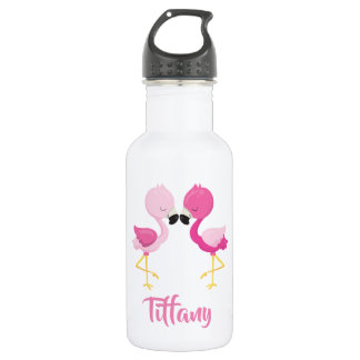Lovely Pink Flamingos for you 532 Ml Water Bottle