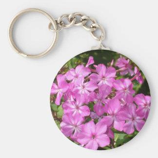 Lovely  Pink Flowers Key Ring