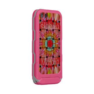 Lovely Pink Gray Hakuna Matata Incipio ATLAS ID™ iPhone 5 Case
