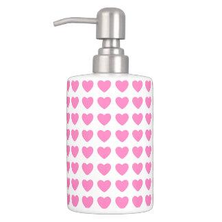 Lovely pink heart, Soap Dispenser &Toothbrush