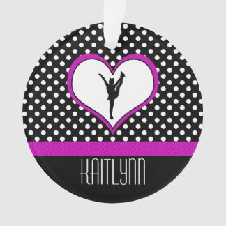Lovely Pink Heart with Polka-Dots Cheer