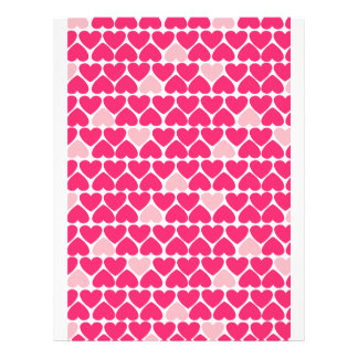 Lovely Pink Hearts Full Color Flyer