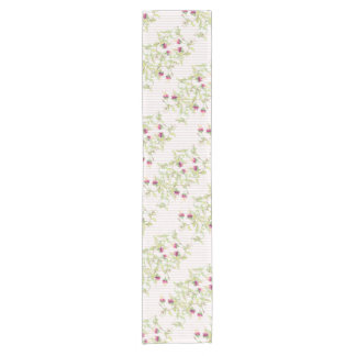 Lovely Pink Roses Floral Pattern Table Runner