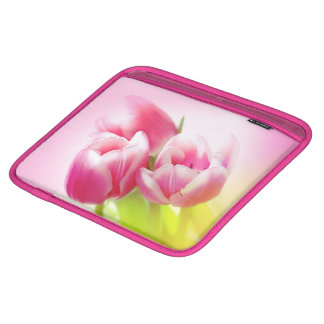 Lovely pink tulips iPad sleeves