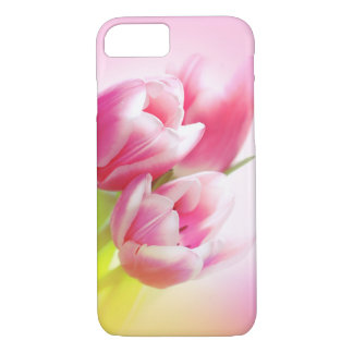 Lovely pink tulips iPhone 7 case