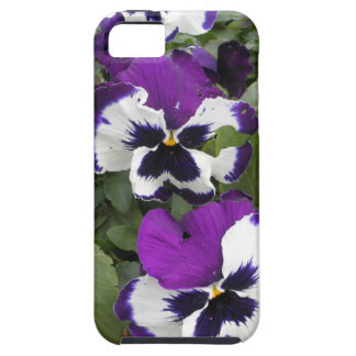 Lovely Purple and White Pansy Art iPhone 5 Covers