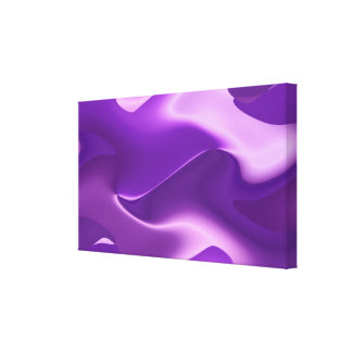 Lovely purple stretched canvas print