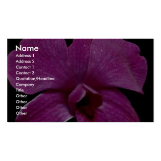 Lovely Purple dendrobium Business Card Templates