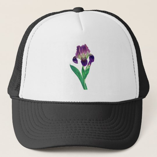 Lovely Purple Dutch Iris Trucker Hat
