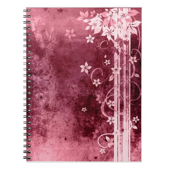 Lovely purple floral desing, notebook