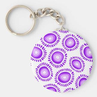 Lovely purple funky flowers Keychain