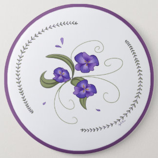 Lovely Purple Pansies Button