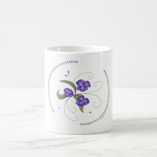 Lovely Purple Pansies Mug