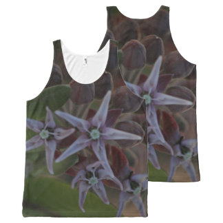 Lovely Purple Wildflowers All-Over Print Tank Top