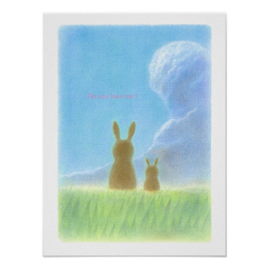 Lovely Rabbits Poster