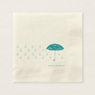 Lovely rain disposable serviettes