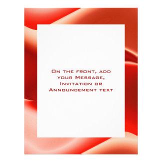 lovely red 21.5 cm x 28 cm flyer