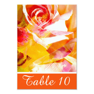 Lovely Red Abstract Rose Table Number Card 9 Cm X 13 Cm Invitation Card