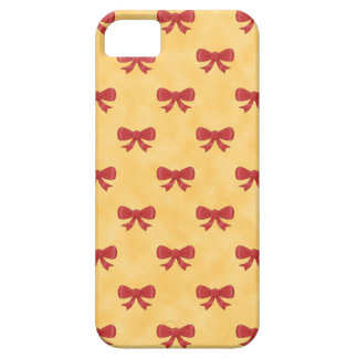 Lovely Red Bows on Golden Colour Background. Barely There iPhone 5 Case
