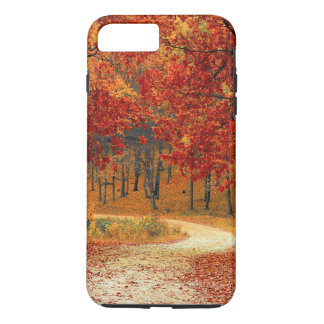 lovely red leaf trees iPhone 7 plus case