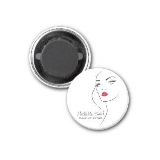 Lovely red lips make up artist  branding magnet