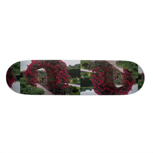 Lovely Red Rose Arches Skateboard
