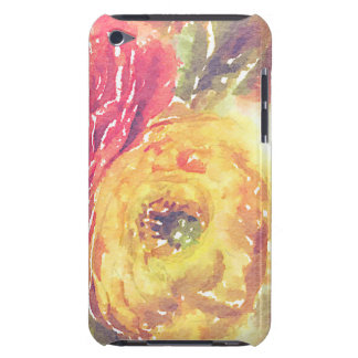 Lovely Red Yellow Ranunculus Flowers Watercolor Case-Mate iPod Touch Case